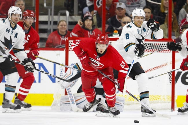 San Jose Sharks vs. Carolina Hurricanes - 10/24/15 NHL Pick, Odds, and Prediction