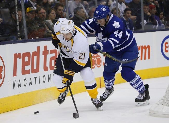 Predators vs. Maple Leafs - 2/3/15 NHL Pick, Odds, and Prediction