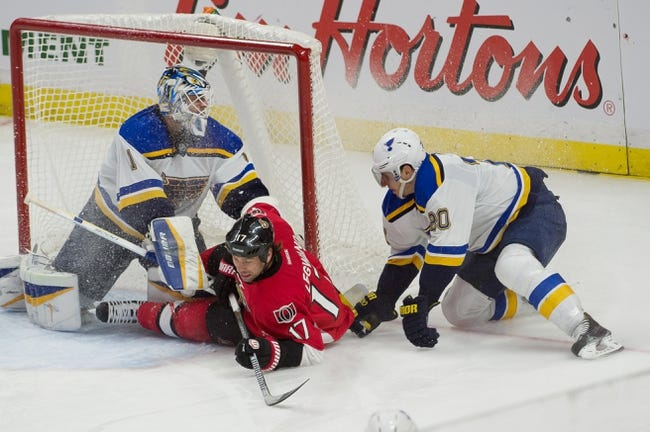 NHL | Ottawa Senators (9-6-4) at St. Louis Blues (14-6-1)
