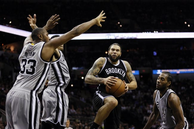 Brooklyn Nets vs. San Antonio Spurs - 12/3/14 NBA Pick, Odds, and Prediction