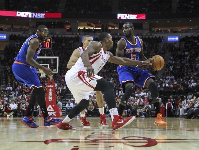 New York Knicks vs. Houston Rockets - 1/8/15 NBA Pick, Odds, and Prediction