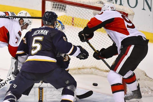 St. Louis Blues vs. Ottawa Senators - 1/4/16 NHL Pick, Odds, and Prediction
