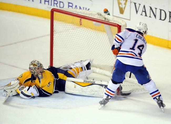 Predators vs. Oilers - 10/10/15 NHL Pick, Odds, and Prediction