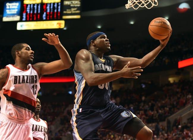 Memphis Grizzlies vs. Portland Trail Blazers - 1/17/15 NBA Pick, Odds, and Prediction