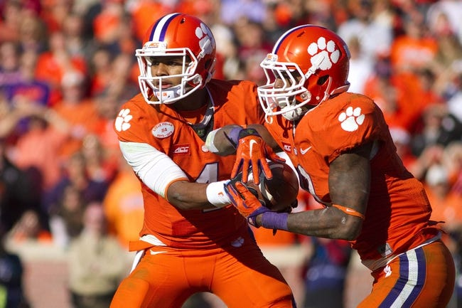 Clemson Tigers vs. Wofford Terriers - 9/5/15 College Football Pick, Odds, and Prediction