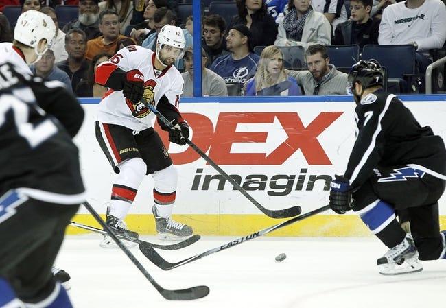 Senators vs. Lightning - 1/4/15 NHL Pick, Odds, and Prediction