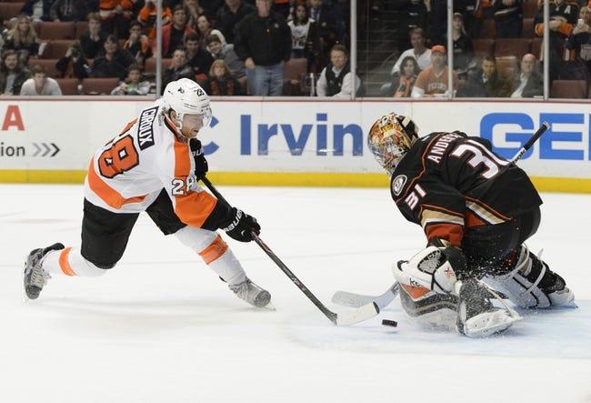 Anaheim Ducks vs. Philadelphia Flyers - 12/27/15 NHL Pick, Odds, and Prediction