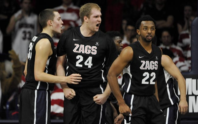 Gonzaga vs. Washington State - 12/10/14 College Basketball Pick, Odds, and Prediction