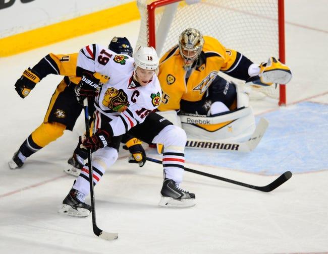 Chicago Blackhawks vs. Nashville Predators - 12/29/14 NHL Pick, Odds, and Prediction