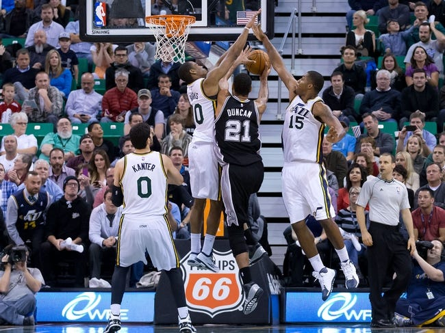 Jazz at Spurs - 1/18/15 NBA Pick, Odds, and Prediction