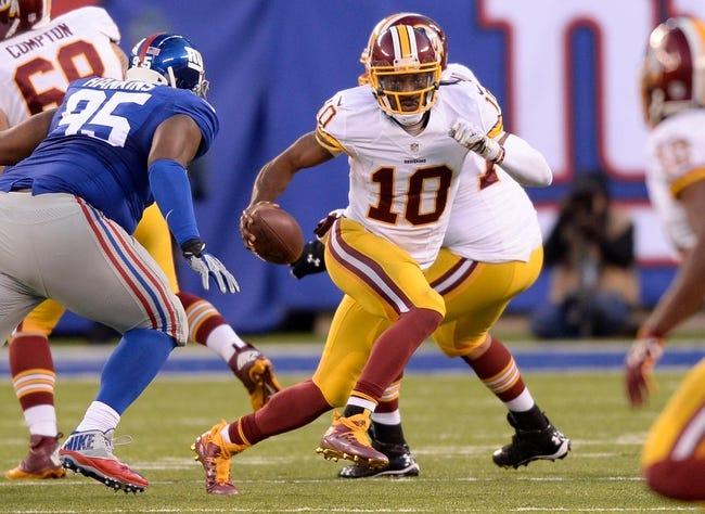 Washington Redskins at New York Giants- 9/24/15 NFL Pick, Odds, and Prediction