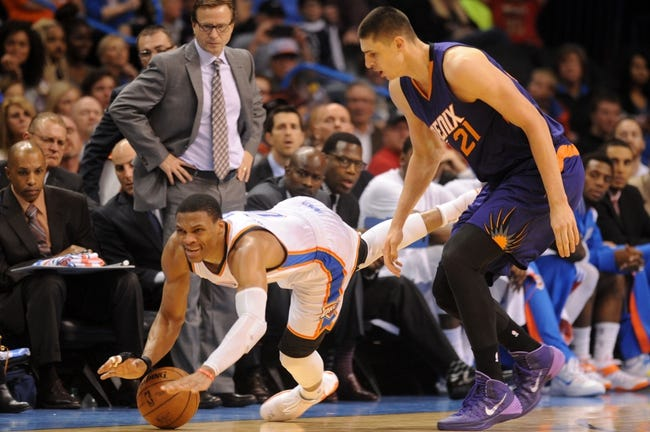 Oklahoma City Thunder vs. Phoenix Suns - 12/31/14 NBA Pick, Odds, and Prediction