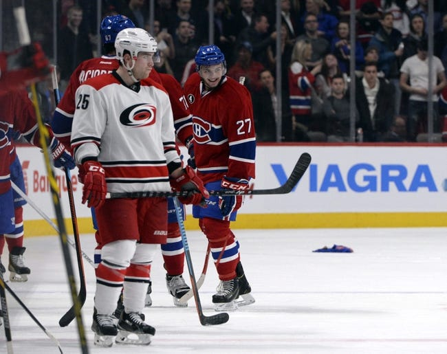 NHL | Montreal Canadiens (22-11-2) at Carolina Hurricanes (10-21-4)