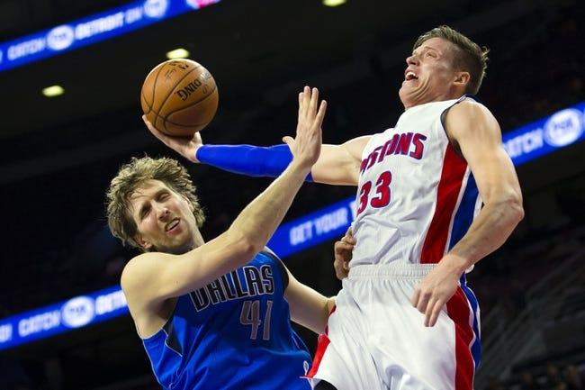 Dallas Mavericks vs. Detroit Pistons - 1/7/15 NBA Pick, Odds, and Prediction