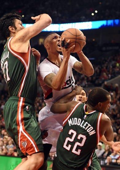 Milwaukee Bucks vs. Portland Trail Blazers - 1/31/15 NBA Pick, Odds, and Prediction