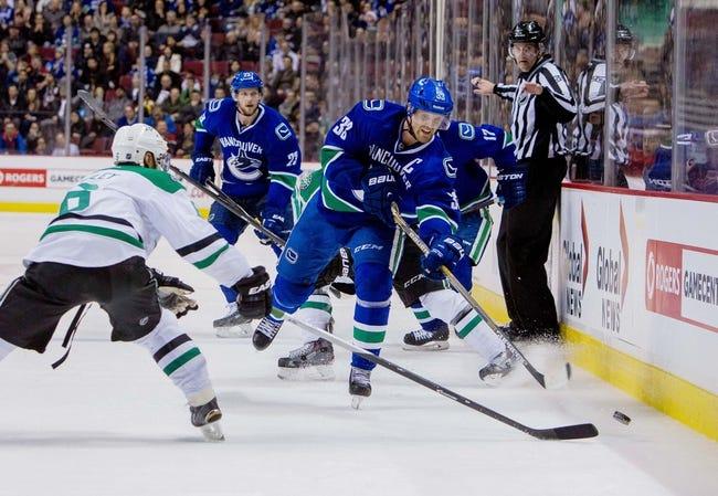 Canucks vs. Stars - 3/28/15 NHL Pick, Odds, and Prediction