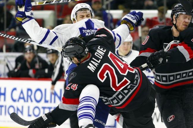 NHL | Carolina Hurricanes (15-25-5) at Toronto Maple Leafs (22-21-3)