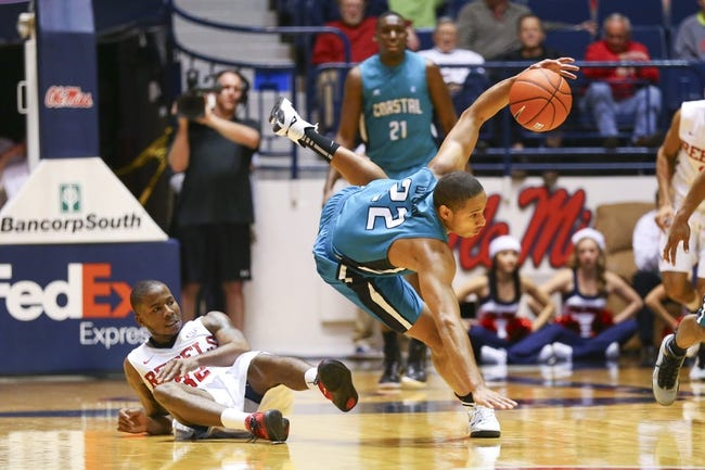 Big South Championship-Coastal Carolina Chanticleers vs. Winthrop Eagles - 3/8/15 College Basketball Pick, Odds, and Prediction