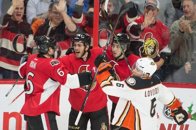 Anaheim Ducks vs. Ottawa Senators - 2/25/15 NHL Pick, Odds, and Prediction