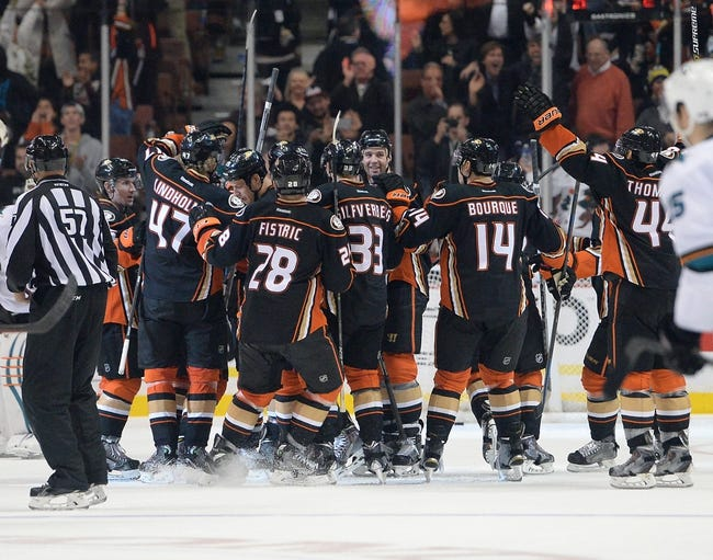Anaheim Ducks vs. San Jose Sharks - 12/31/14 NHL Pick, Odds, and Prediction