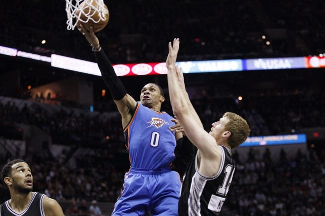 Spurs vs. Thunder - 3/25/15 NBA Pick, Odds, and Prediction