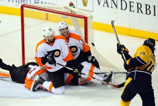 Philadelphia Flyers vs. Nashville Predators - 11/27/15 NHL Pick, Odds, and Prediction