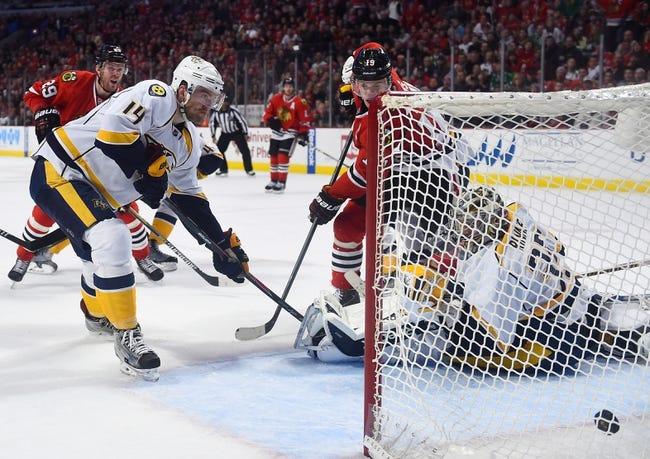 Blackhawks at Predators - 4/15/15 NHL Pick, Odds, and Prediction