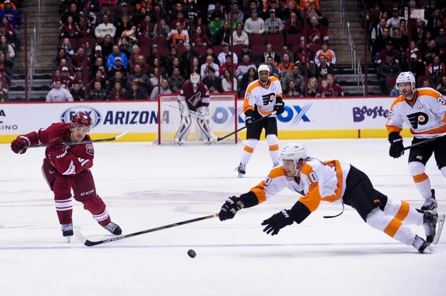 Arizona Coyotes vs. Philadelphia Flyers - 10/15/16 NHL Pick, Odds, and Prediction