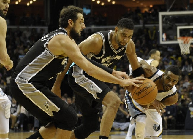 Grizzlies at Spurs - 3/29/15 NBA Pick, Odds, and Prediction