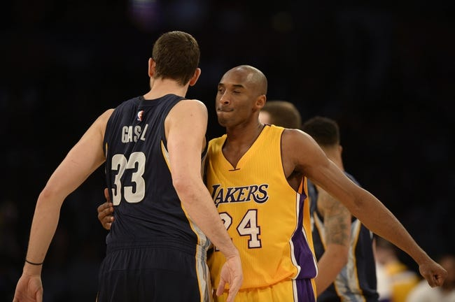 Memphis Grizzlies vs. Los Angeles Lakers - 12/27/15 NBA Pick, Odds, and Prediction