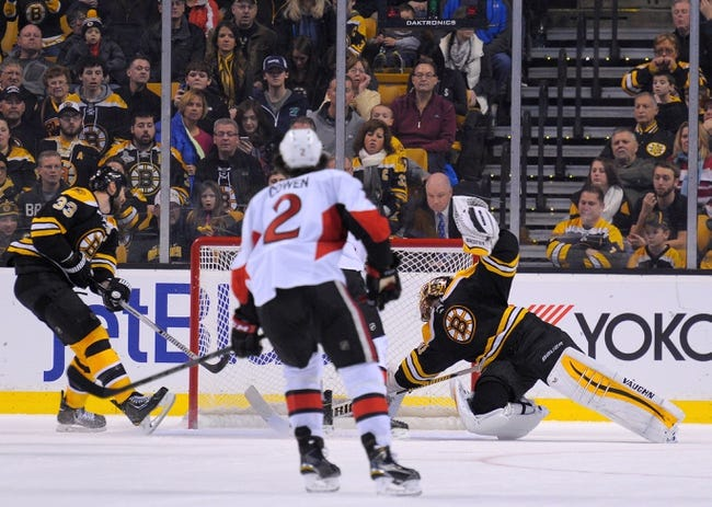 Senators vs. Bruins - 3/10/15 NHL Pick, Odds, and Prediction
