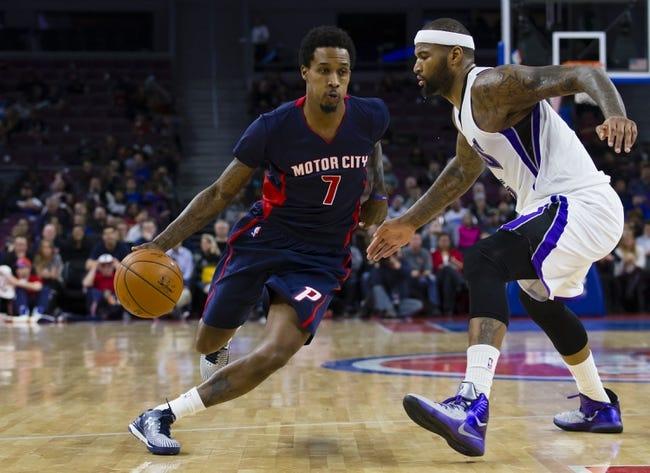 Sacramento Kings vs. Detroit Pistons - 11/11/15 NBA Pick, Odds, and Prediction