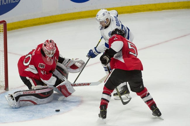 Ottawa Senators vs. Tampa Bay Lightning - 4/2/15 NHL Pick, Odds, and Prediction