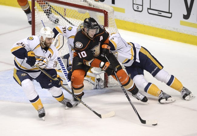 Nashville Predators vs. Anaheim Ducks - 2/5/15 NHL Pick, Odds, and Prediction