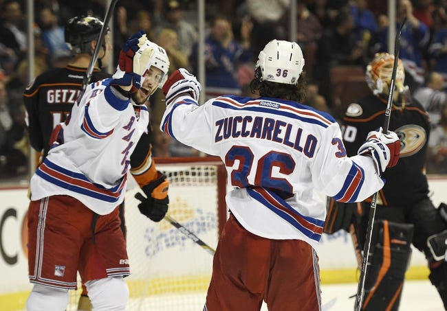 New York Rangers vs. Anaheim Ducks - 3/22/15 NHL Pick, Odds, and Prediction