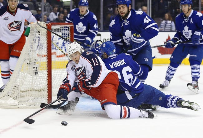 Maple Leafs at Blue Jackets - 4/8/15 NHL Pick, Odds, and Prediction
