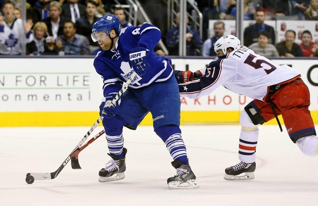 Columbus Blue Jackets vs. Toronto Maple Leafs - 4/8/15 NHL Pick, Odds, and Prediction