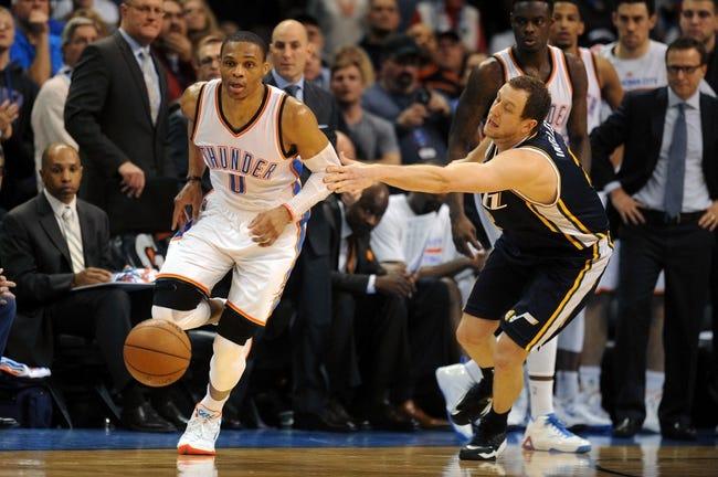 Utah Jazz vs. Oklahoma City Thunder - 3/28/15 NBA Pick, Odds, and Prediction