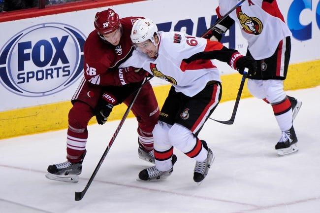 Senators vs. Coyotes - 1/31/15 NHL Pick, Odds, and Prediction