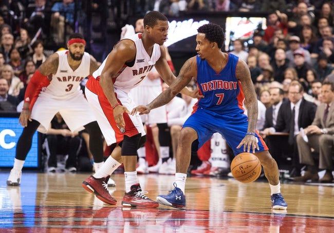 Raptors vs. Pistons - 1/25/15 NBA Pick, Odds, and Prediction