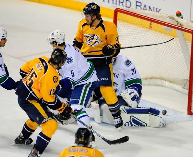 Nashville Predators vs. Vancouver Canucks - 3/31/15 NHL Pick, Odds, and Prediction