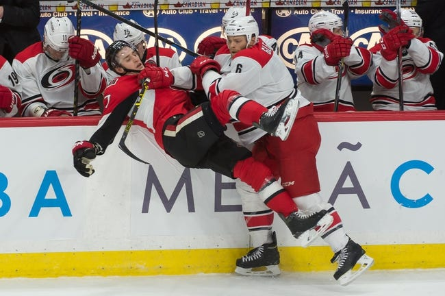 Senators vs. Hurricanes - 2/16/15 NHL Pick, Odds, and Prediction