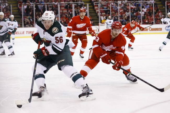 Minnesota Wild vs. Detroit Red Wings - 4/4/15 NHL Pick, Odds, and Prediction