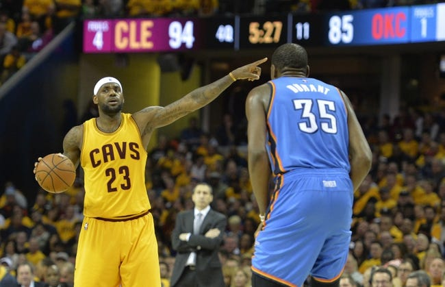 Thunder at Cavaliers - 12/17/15 NBA Pick, Odds, and Prediction