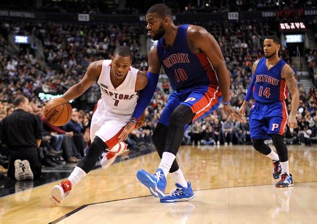 Pistons vs. Raptors - 3/24/15 NBA Pick, Odds, and Prediction