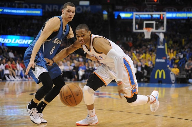 Oklahoma City Thunder vs. Minnesota Timberwolves - 3/13/15 NBA Pick, Odds, and Prediction