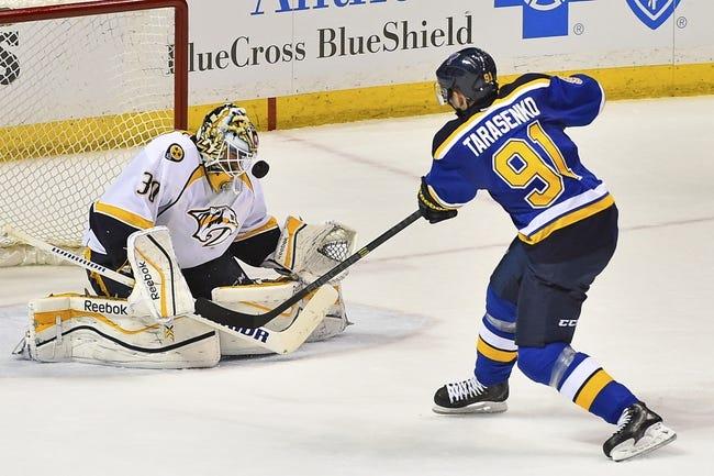 Nashville Predators vs. St. Louis Blues - 11/7/15 NHL Pick, Odds, and Prediction
