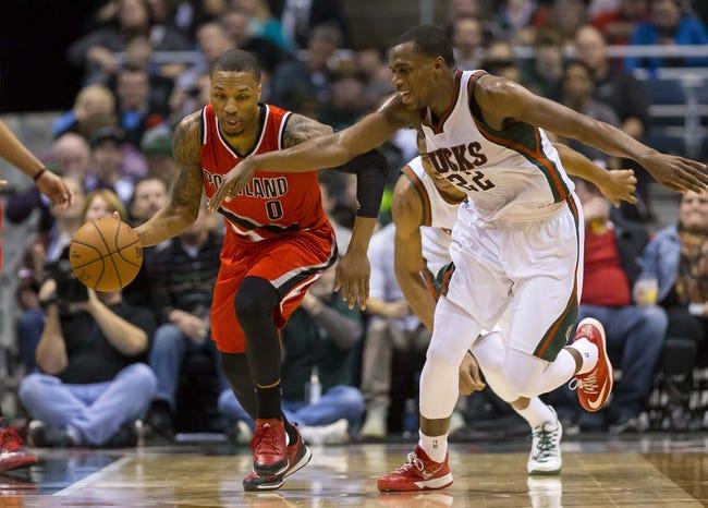 Bucks vs. Trail Blazers - 12/7/15 NBA Pick, Odds, and Prediction