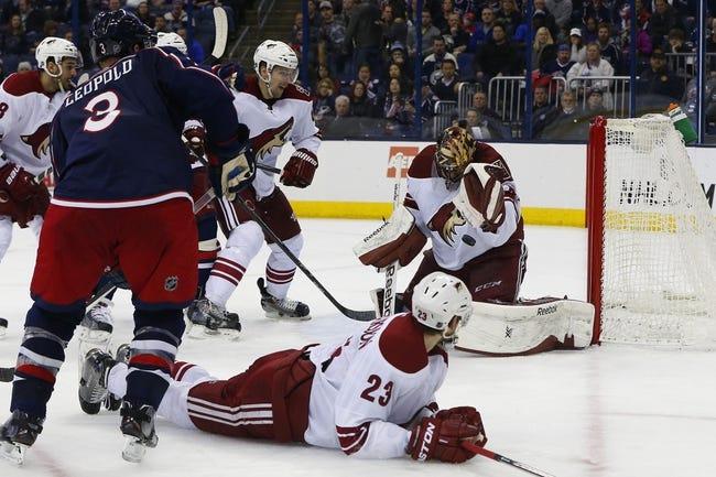 Columbus Blue Jackets vs. Arizona Coyotes - 11/14/15 NHL Pick, Odds, and Prediction