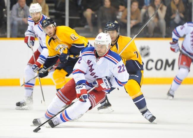 New York Rangers vs. Nashville Predators - 3/2/15 NHL Pick, Odds, and Prediction